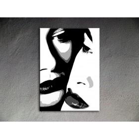 Popart schilderij Two women