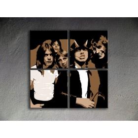 Popart schilderij AC/DC