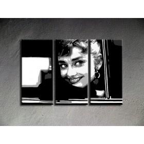Popart schilderij Audrey Hepburn 2