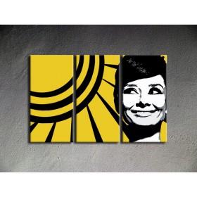 Popart schilderij Audrey Hepburn 3