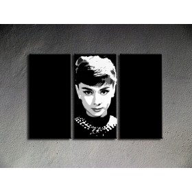 Popart schilderij Audrey Hepburn 1