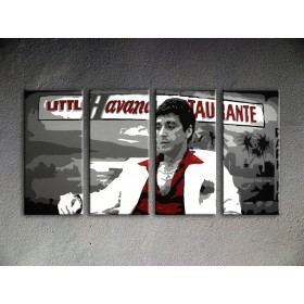Popart schilderij Havana - Al Pacino