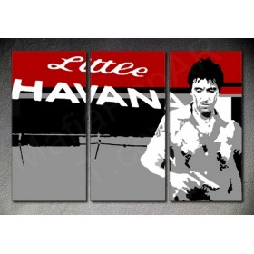 Popart schilderij Scarface Al Pacino -  3 delig