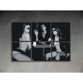 Popart schilderij Scarface - Al Pacino 6 delig