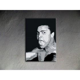 Popart schilderij Muhammad Ali
