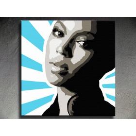 Popart schilderij Beyonce 3