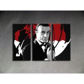Popart schilderij James Bond 3