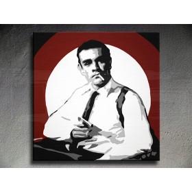 Popart schilderij James Bond