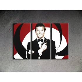 Popart schilderij James Bond 1