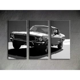 Popart schilderij Ford Mustang Bullit