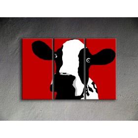 Popart schilderij Cow 1