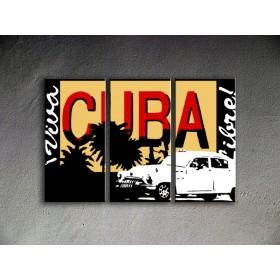 Popart schilderij Cuba