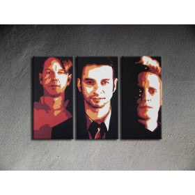 Popart schilderij Depeche Mode 3 delig
