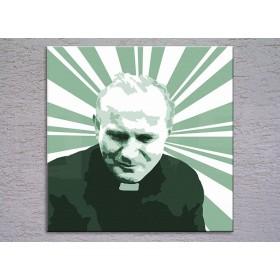 Popart schilderij Pope John Paul II. 3 delig
