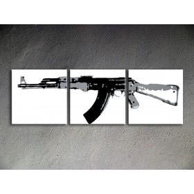 Popart schilderij Kalashnikov 1