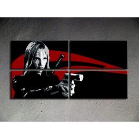 Popart schilderij Kill Bill