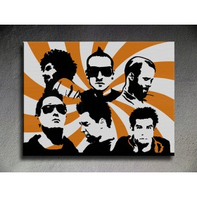 Popart schilderij Linkin Park 2