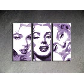 Popart schilderij Marilyn Monroe 3 delig 3