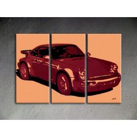 Popart schilderij Porsche 911 1