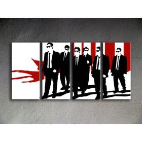 Popart schilderij Reservoir Dogs 4 delig 1