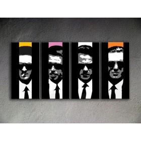 Popart schilderij Reservoir Dogs 4 delig 2