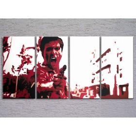 Popart schilderij Al Pacino 4 delig