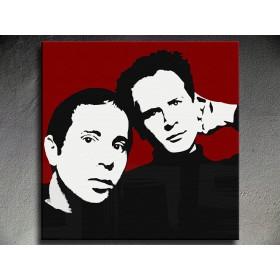 Popart schilderij Simon & Garfunkel