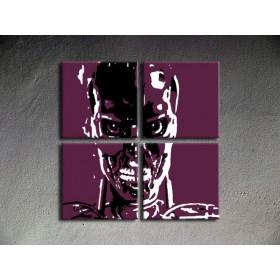 Popart schilderij Terminator 3 delig 1