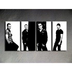 Popart schilderij U2 in Black 1