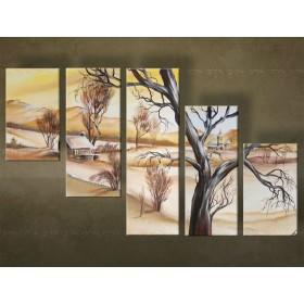 Handgeschilderd schilderij Landschappen 5 delig 4364FA