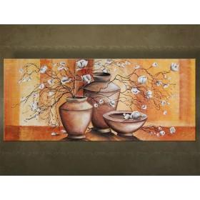 Handgeschilderd schilderij Bloemen 1 delig 5387FA