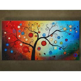 Handgeschilderd schilderij Bomen 1 delig 5476FA