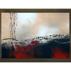 Handgeschilderd schilderij Abstract 1 delig 5484FA