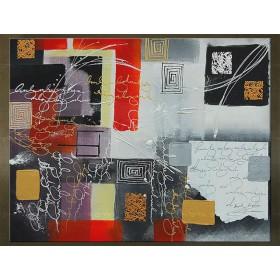 Handgeschilderd schilderij Abstract 1 delig 5495FA