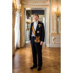 Staatsieportret Willem-Alexander glas inlijsting