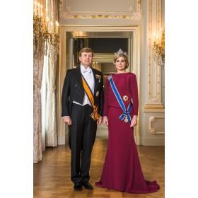Staatsieportret Willem-Alexander en Koningin Máxima glas inlijsting