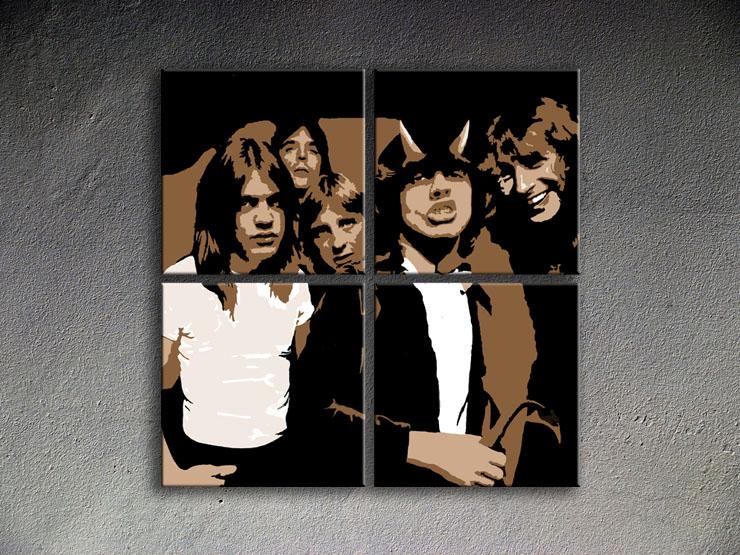 Popart schilderij AC-DC