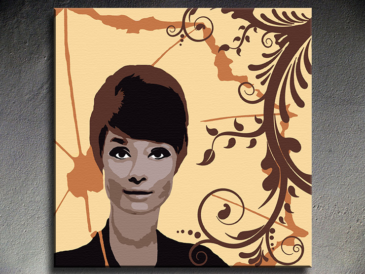 Popart schilderij Audrey Hepburn 4