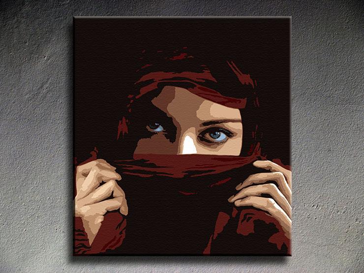 Popart schilderij Aicha