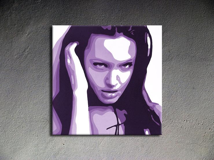 Popart schilderij Angelina Jolie 2