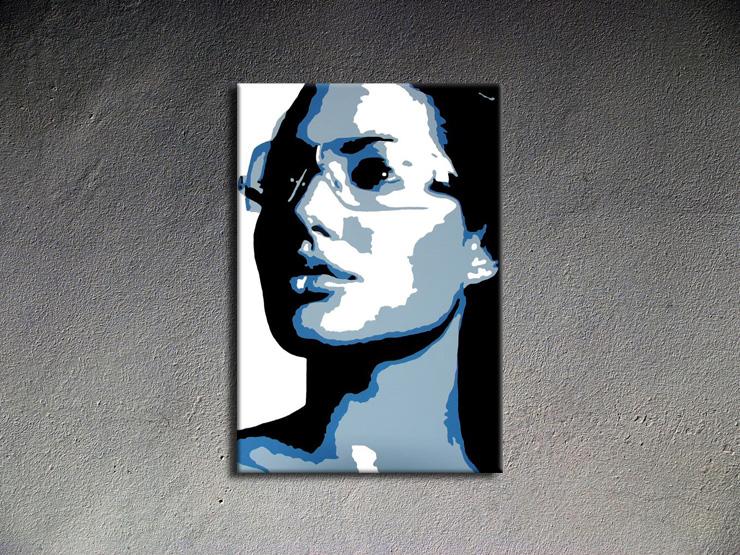 Popart schilderij Angelina Jolie 1