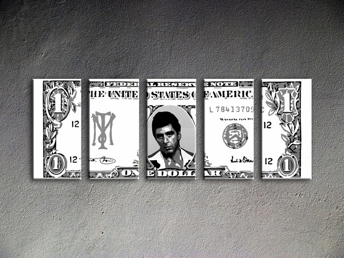 Popart schilderij Al Pacino 5 delig