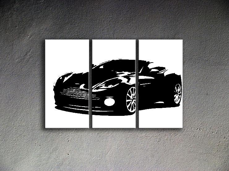 Popart schilderij Aston Martin 2