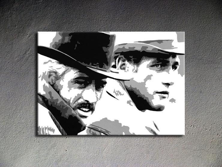 Popart schilderij Butch Cassidy