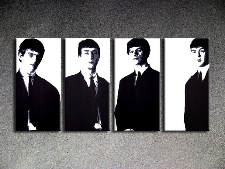 Popart schilderij Beatles 4 delig