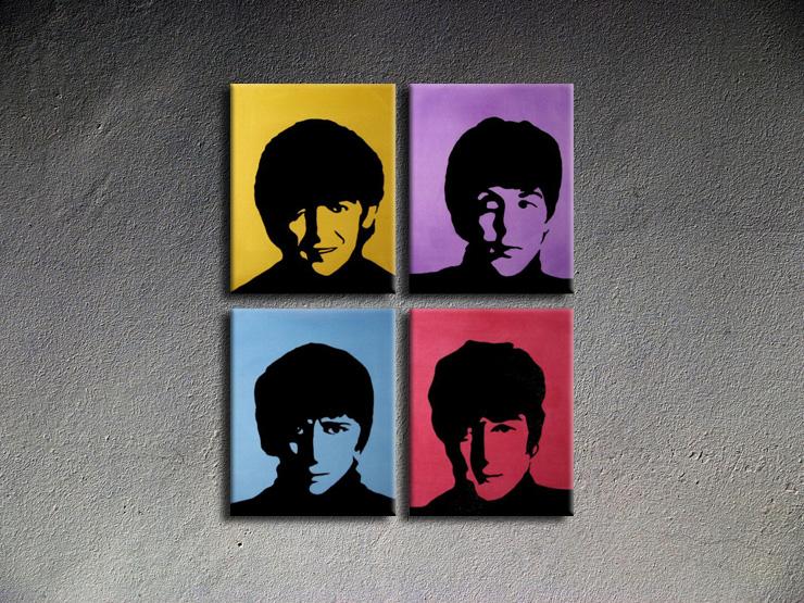 Popart schilderij Beatles 1