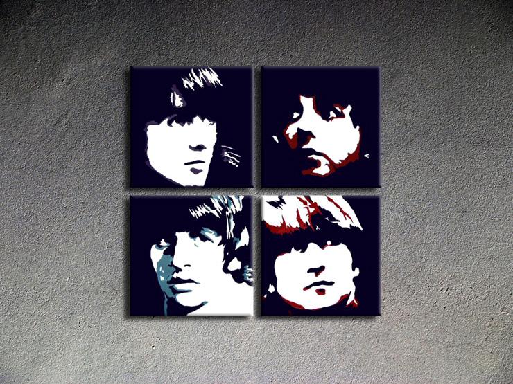 Popart schilderij Beatles 2