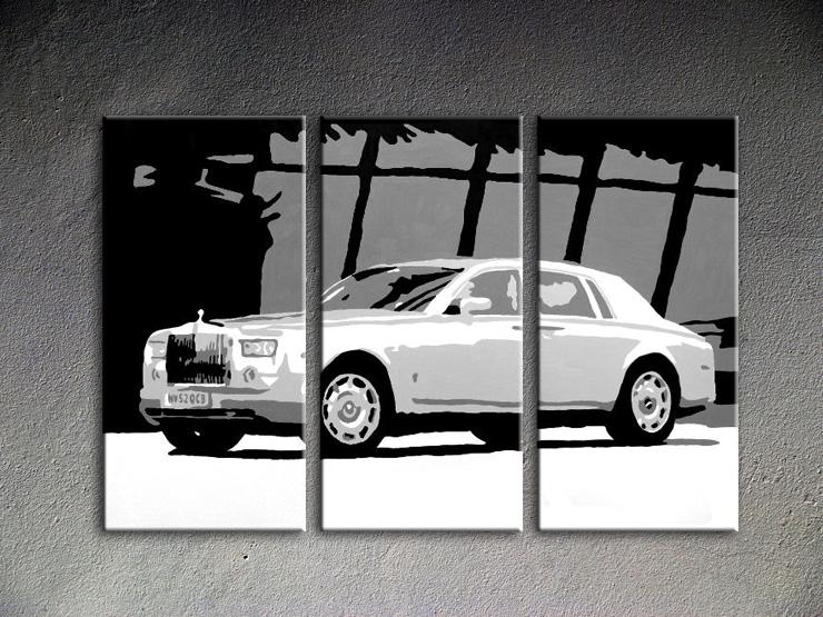 Popart schilderij Bentley