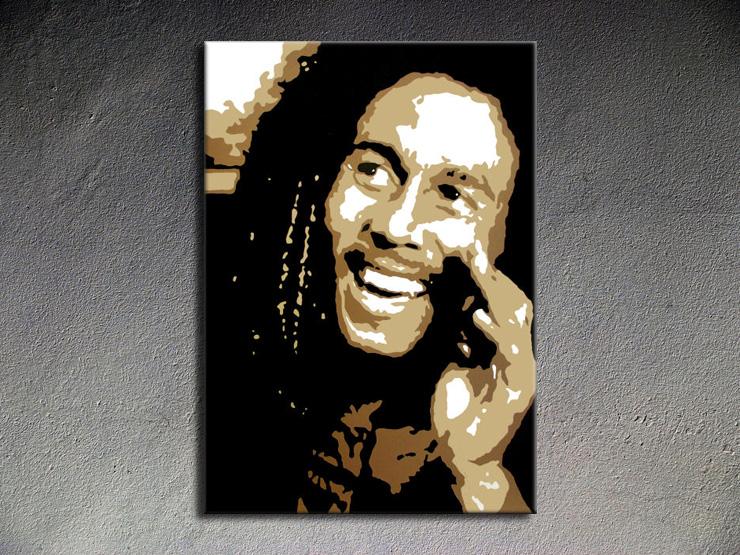 Popart schilderij Bob Marley
