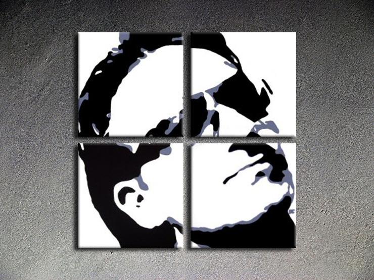 Popart schilderij Bono-U2
